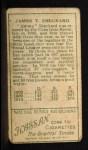 1911 T205  Jimmy Sheckard  Back Thumbnail