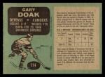 1970 O-Pee-Chee #114  Gary Doak  Back Thumbnail