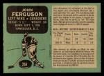 1970 O-Pee-Chee #264  John Ferguson  Back Thumbnail