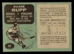 1970 O-Pee-Chee #89  Duane Rupp  Back Thumbnail