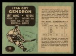 1970 O-Pee-Chee #86  Jean-Guy Gendron  Back Thumbnail