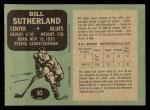 1970 O-Pee-Chee #83  Bill Sutherland  Back Thumbnail
