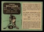 1970 O-Pee-Chee #169  Tom Williams  Back Thumbnail