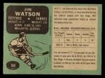 1970 O-Pee-Chee #144  Jim Watson  Back Thumbnail