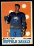 1970 O-Pee-Chee #144  Jim Watson  Front Thumbnail