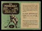 1970 O-Pee-Chee #131  Gilbert Perreault  Back Thumbnail