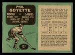 1970 O-Pee-Chee #127  Phil Goyette  Back Thumbnail