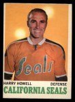 1970 O-Pee-Chee #72  Harry Howell  Front Thumbnail