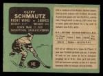 1970 O-Pee-Chee #142  Cliff Schmautz  Back Thumbnail