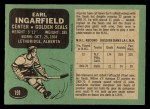 1970 O-Pee-Chee #191  Earl Ingarfield  Back Thumbnail