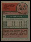 1975 Topps #78  Ray Corbin  Back Thumbnail
