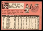 1969 Topps #198  Willie Smith  Back Thumbnail
