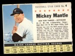 1961 Post Cereal #4 COM Mickey Mantle   Front Thumbnail