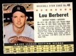 1961 Post #43 COM Lou Berberet   Front Thumbnail