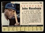 1961 Post Cereal #166 COM John Roseboro   Front Thumbnail