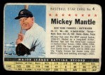 1961 Post #4 COM Mickey Mantle   Front Thumbnail
