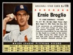 1961 Post Cereal #179 BOX Ernie Broglio   Front Thumbnail
