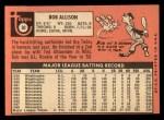 1969 Topps #30  Bob Allison  Back Thumbnail