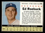 1961 Post Cereal #170 BOX Ed Roebuck   Front Thumbnail