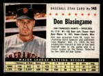 1961 Post #148 BOX Don Blasingame   Front Thumbnail