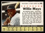 1961 Post Cereal #145 BOX Willie Mays   Front Thumbnail