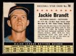 1961 Post #76 BOX Jackie Brandt   Front Thumbnail