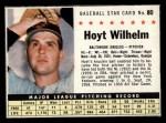 1961 Post #80 BOX Hoyt Wilhelm   Front Thumbnail