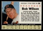 1961 Post Cereal #66 BOX Bob Wilson  Front Thumbnail