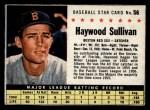 1961 Post Cereal #56 BOX Haywood Sullivan   Front Thumbnail