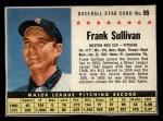 1961 Post Cereal #55 BOX Frank Sullivan   Front Thumbnail