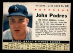 1961 Post Cereal #169 BOX Johnny Podres  Front Thumbnail