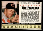 1961 Post Cereal #64 BOX Tito Francona   Front Thumbnail