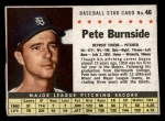 1961 Post Cereal #46 BOX Pete Burnside   Front Thumbnail