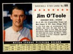 1961 Post Cereal #189 BOX Jim O'Toole  Front Thumbnail