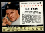 1961 Post Cereal #45 BOX Eddie Yost   Front Thumbnail