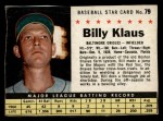 1961 Post #79  Billy Klaus   Front Thumbnail