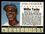 1961 Post Cereal #51 BOX Willie Tasby   Front Thumbnail