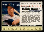 1961 Post Cereal #90 BOX Hank Bauer   Front Thumbnail