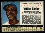 1961 Post #51 BOX Willie Tasby   Front Thumbnail
