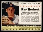 1961 Post #87 BOX Ray Herbert   Front Thumbnail