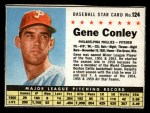 1961 Post #124 BOX Gene Conley   Front Thumbnail