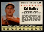 1961 Post Cereal #188 BOX Ed Bailey   Front Thumbnail