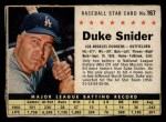 1961 Post #167 BOX Duke Snider   Front Thumbnail