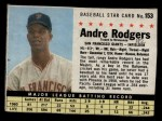 1961 Post Cereal #153 BOX Andre Rodgers  Front Thumbnail