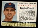 1961 Post #99 BOX Camilo Pascual   Front Thumbnail