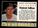 1961 Post Cereal #56 BOX Haywood Sullivan   Front Thumbnail
