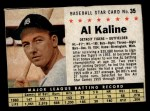 1961 Post Cereal #35 BOX Al Kaline   Front Thumbnail