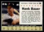 1961 Post #90 BOX Hank Bauer   Front Thumbnail