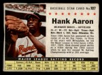 1961 Post #107 BOX Hank Aaron   Front Thumbnail