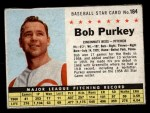 1961 Post #184 BOX Bob Purkey  Front Thumbnail